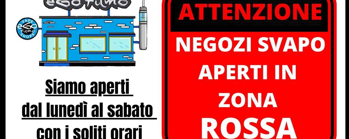 negozi sigarette elettroniche aperti zona rossa lockdown